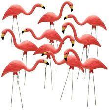 flamingo metal garden stakes ornaments ebay