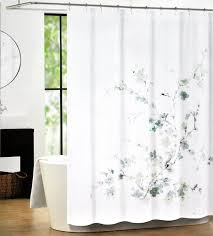 Silver And White Shower Curtain Amazon Com Tahari Luxury Cotton Blend Shower Curtain Printemps