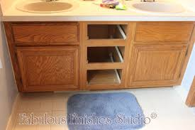 Paint Bathroom Cabinets by Glazing Oak Cabinets Fabulously Finished