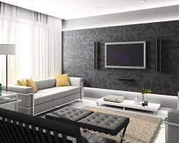 Modern Wallpaper Bedroom Designs Black And White Wallpaper Room Best Gallery Design Ideas