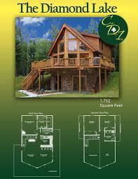 do it yourself home plans cedar direct log homes the diamond lake 1 752 square feet log home