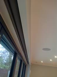 Blinds For Windows With No Recess - electric blinds covering bifold doors hidden with in a recess in