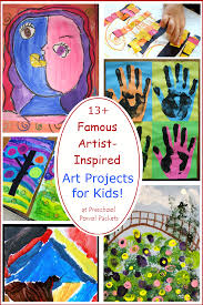 13 famous artists inspired art projects for kids preschool