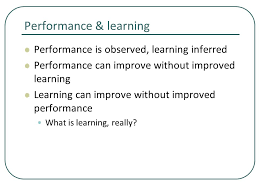practice chapter 5 performance learning performance is observed