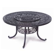 60 Patio Table Athena Patio Table With Lazy Susan And