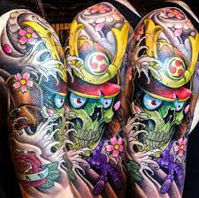 42 samurai skull tattoos designs