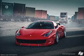 slammed ferrari liberty walk ferrari 458 italia on pur wheels might not be
