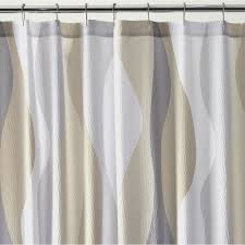 Neutral Shower Curtain Italian Seersucker Shower Curtain Crate And Barrel