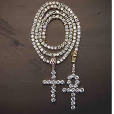 necklace cross diamond images Ankh diamond cross tennis necklace set the gld shop jpg