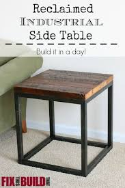 Industrial Accent Table Best 25 Industrial Side Table Ideas On Pinterest Black Sofa