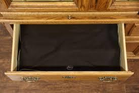 oak vintage china cabinet leaded beveled glass richardson bros