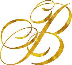 monogram letter b letter b initial gold faux foil metallic glitter monogram isolated