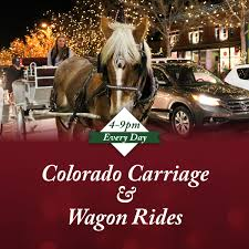 brewery lights fort collins brewery lights horse drawn carriage rides santa s reindeer