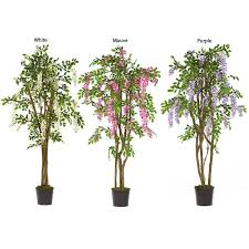 wisteria 5 foot silk tree free shipping today overstock
