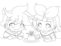 lineart kagamine len and rin by piko chan4ever on deviantart