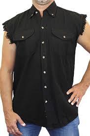biker apparel amazon com men u0027s sleeveless denim shirt biker vest 2 front