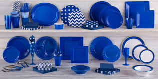 Decorative Plastic Plates For Wedding Royal Blue Tableware Royal Blue Party Supplies Party City