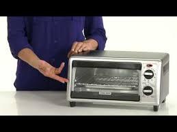 Black Decker 6 Slice Toaster Oven Black Decker 4 Slice Countertop Convection Toaster Oven Youtube