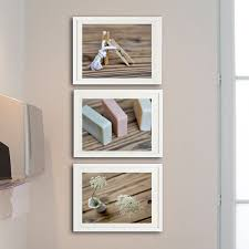 Wall Art For Powder Room - set of 3 rustic bathroom chic decor powder room wood wall art