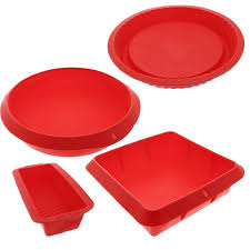 amazon com bakeware set baking molds 4 nonstick silicone