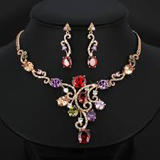 ladies necklace sets images New jewelry necklace and earrings bridal set zircon african jpg