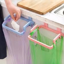 kitchen cabinet hanging rubbish bag holder garbage storage rack
