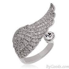 rings com images Elegant angel wings crystal ring fashion rings jewelry jpg