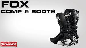 motocross boots fox fox comp 5 boot youtube