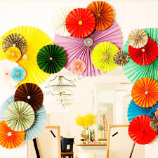 hanging paper fans party decorations hanging paper fan buy hanging paper fan