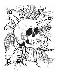 web art gallery skull printable coloring pages at best all