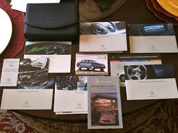 2003 mercedes e class owners manual complete set for e320