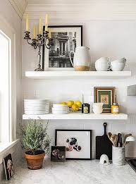 Open Shelves Kitchen Best 25 Kitchen Shelf Decor Ideas On Pinterest Kitchen Shelves
