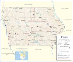 Time Zones Usa Map States by Iowa Map Iowa State Map Iowa Road Map Map Of Iowa