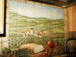 kitchen tile murals backsplash italy mediterranean countries scenic tile murals glass by julia