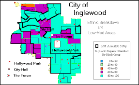 map of inglewood california inglewood consolidated plan for 1995 executive summary