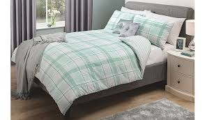 Asda Bed Sets George Home New Duck Egg Check Duvet Set Duvet Covers George