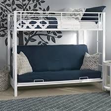 White Metal Futon Bunk Bed Sturdy Metal Futon Bunk Bed In White Finish