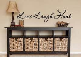 hunting wall decal hunt hunting decor live laugh hunt