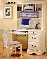 louis philippe youth desk and hutch in creamy antique white finish