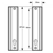 Patio Handle Fullex 506 Series Patio Handle Set Sliding Upvc Patio Door