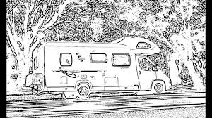 Coloriage Campingcar  YouTube