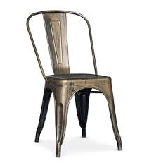 chaise loft chaise métal bronze métallisé loft coin du design