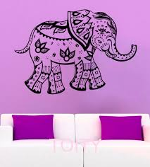 aliexpress com buy mehndi elephant wall stickers indian symbol