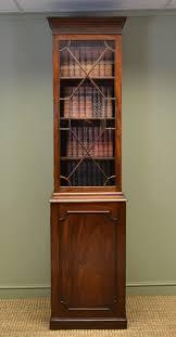 china cabinet unusual tall slim georgian mahogany antique