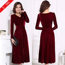 plus size xxxl 4xl 5xl women winter dress v neck long maxi velvet