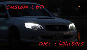 subaru legacy custom 2005 2009 subaru legacy custom led hid drl light bar retrofit