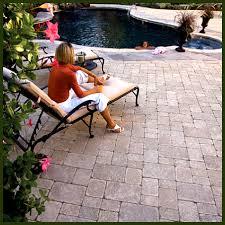 Pavers In Backyard by Jacksonville Backyard Hardscapes Landscapes Ecoscapes