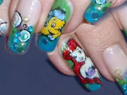 disney ariel u0026 flounders nail art design tutorial youtube