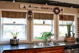Where To Buy Window Valances My 7 00 Burlap Coffee Bean Sack Window Shades Funky Junk
