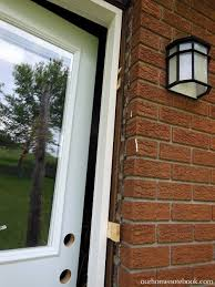 Exterior Door Install A New Back Door Our Home Notebook